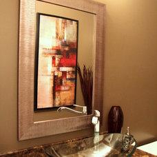 Contemporary Powder Room by Mackenzie Austin Design