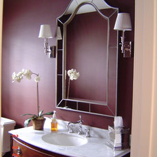 Modern Powder Room by Mitchell Construction Group