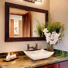 Modern Powder Room by Case Design/Remodeling San Jose