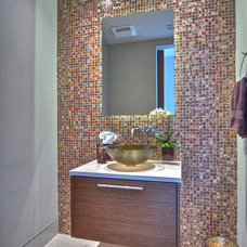 Modern Powder Room by Addison Bruley LLC