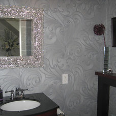 modern powder room by Sonia Daigle