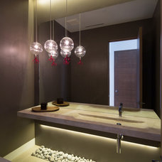 Modern Powder Room by Max Strang Architecture