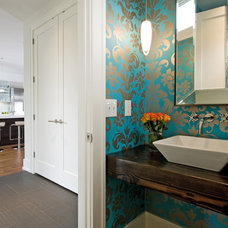 Contemporary Powder Room by w.b. builders