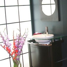 Modern Powder Room by Marina V. Phillips