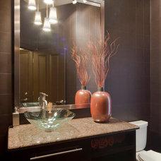 Modern Powder Room by Rebecca Elliott Interior Design, LLC