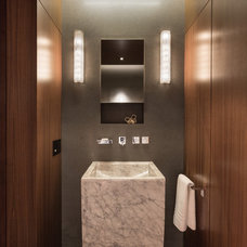 Modern Powder Room by Touzet Studio