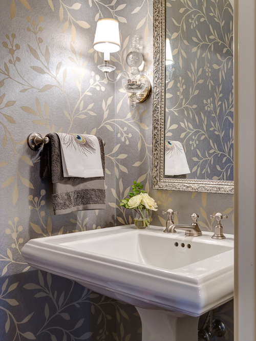 Wallpaper Powder Room Houzz
