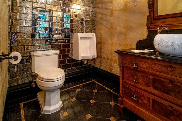 Victorian Powder Room by Copper Leaf Interior Design Studio