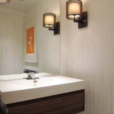 modern powder room by Croma Design Inc