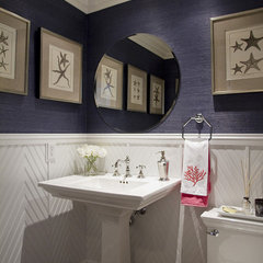 traditional powder room by Janelle Steinberg Interior Design
