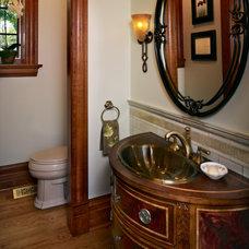 Traditional Powder Room by Ekman Design Studio