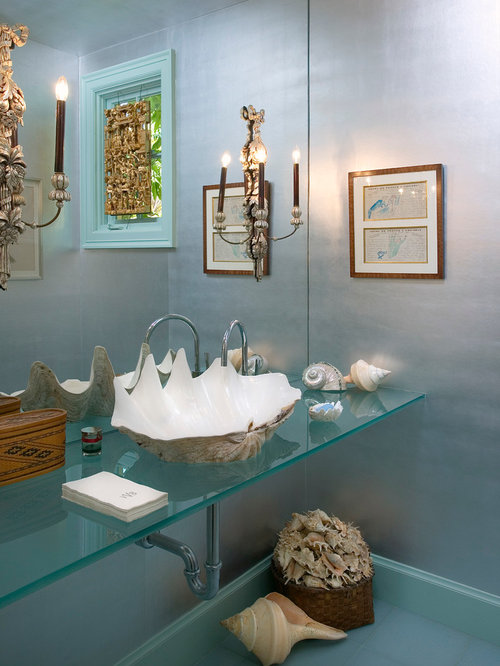 Best giant clam shell sink design ideas remodel pictures for Space themed bathroom