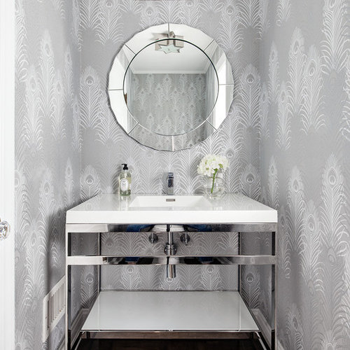 Best 25 Transitional Powder Room Ideas Amp Remodeling Photos