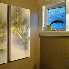 Contemporary Powder Room by NexTrend Design