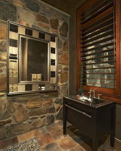 contemporary powder room by Tidewater Lumber and Moulding, Inc.