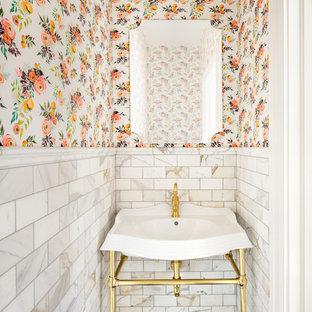 Photos et idées déco de WC et toilettes avec un carrelage métro