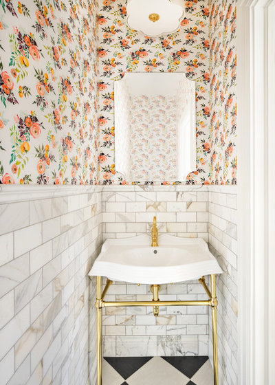 Fusion Powder Room by The Fox Group