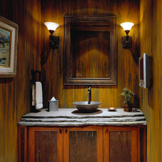 Traditional Powder Room by Sesshu Design Associates, Ltd