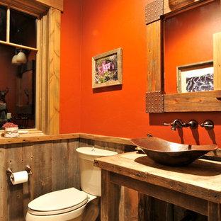 Удачное сочетание для дизайна помещения: туалет в стиле рустика - самое интересное для вас