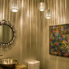 Modern Powder Room by Bear Mountain Builders