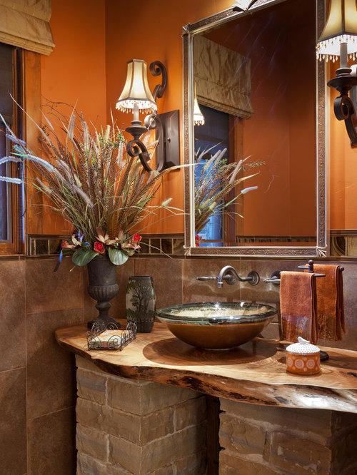 rustikale g stetoilette g ste wc mit steinfliesen ideen. Black Bedroom Furniture Sets. Home Design Ideas