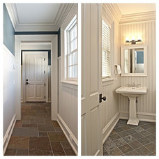 Traditional Powder Room by Art of Tile and Stone