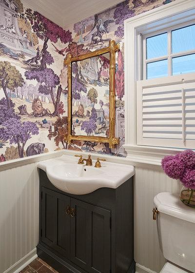 Traditional Cloakroom by Martha O'Hara Interiors