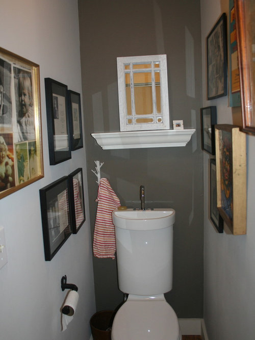 Eclectic powder room photo in Other. Toilet Sink Combination   Houzz