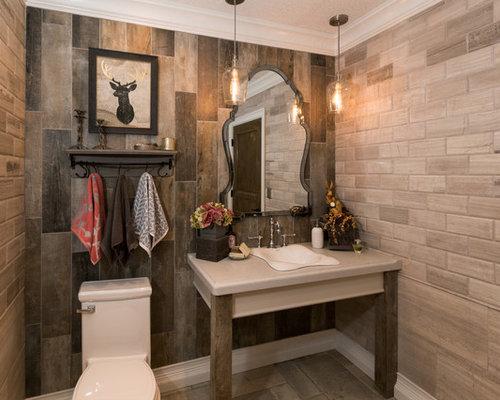 Piastrelle per bagno rustico cool idee per un grande bagno di