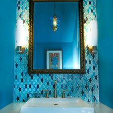 Eclectic Powder Room by Kara Mosher