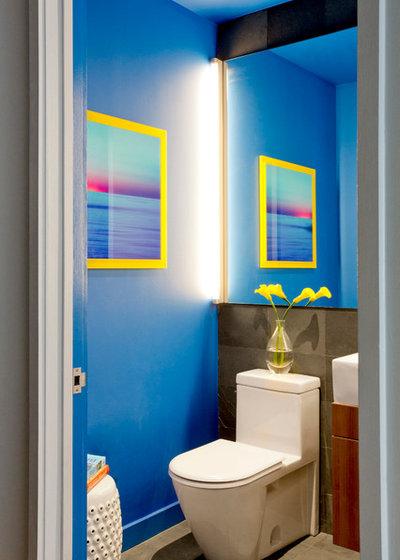 Contemporary Powder Room by Rikki Snyder