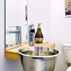 Industrial Powder Room by Andrew Snow Photography