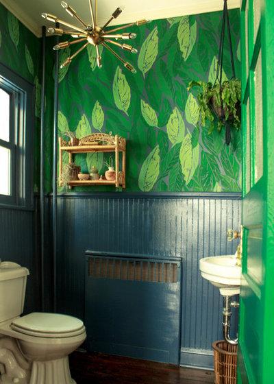 Beautiful Eclectic Powder Room by Sarah Seung McFarland