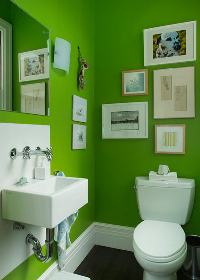 Contemporary Powder Room by Margot Hartford Photography