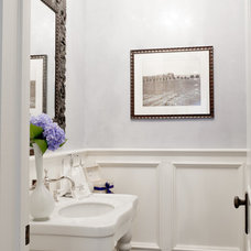 Traditional Powder Room by Rikki Snyder