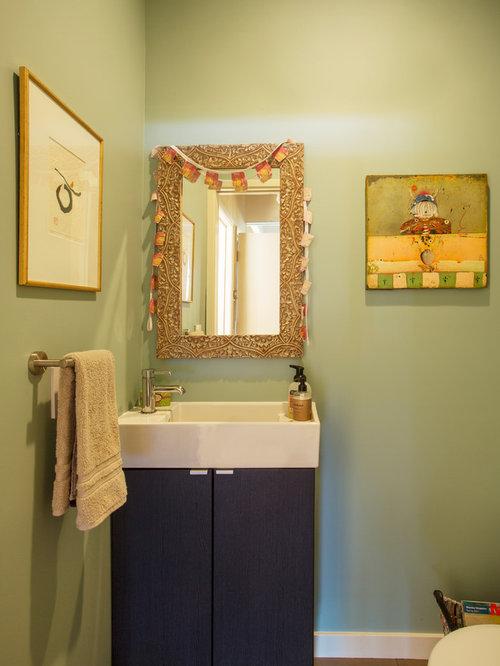 Photos et id es d co de wc et toilettes avec des portes de for Decoration porte plane