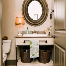 Traditional Powder Room by Two Ellie