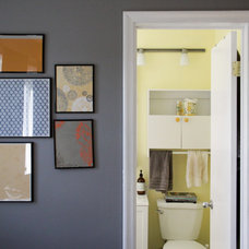 Eclectic Powder Room by Kaia Calhoun