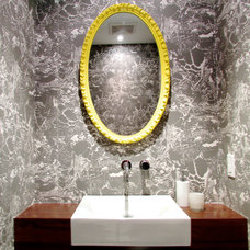 Contemporary Powder Room by Jenn Hannotte / Hannotte Interiors