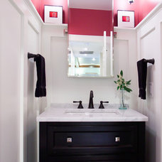 Traditional Powder Room by D.W. Dively Construction Services