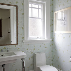 Traditional Powder Room by John Henshaw Architect Inc.