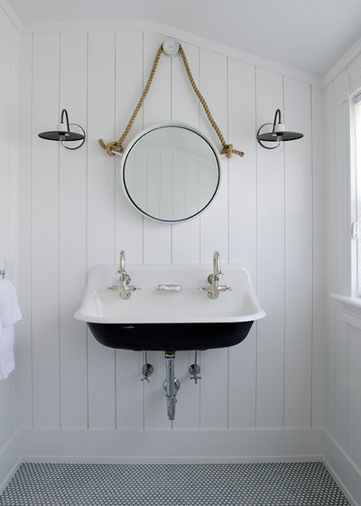 Beach Style Powder Room by threshold interiors