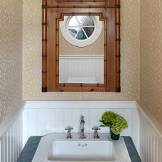 Beach Style Powder Room by Ben Gebo Photography