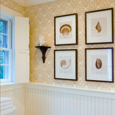 Traditional Powder Room by Beach Glass Interior Designs