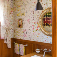 Eclectic Powder Room by Kathy Best Design