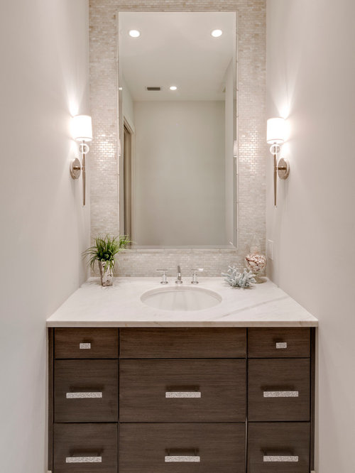 Best powder room design ideas remodel pictures houzz - Bathroom vanity mirror side lights ...