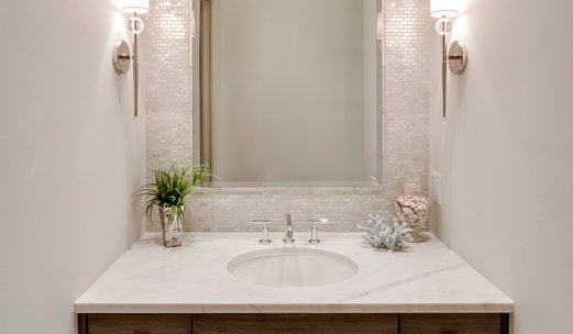 75 beautiful powder room pictures ideas houzz - Powder room wallpaper ideas ...