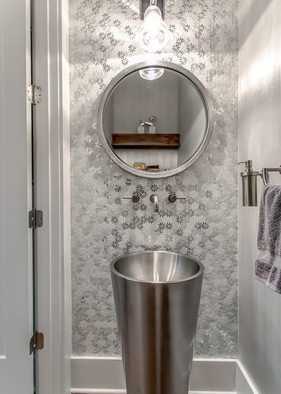 Contemporary Powder Room by Design Design Interiors