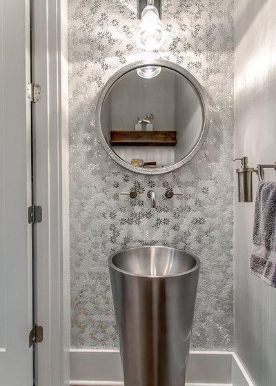 Contemporary Powder Room by Design Design Interiors