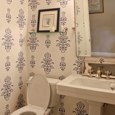 Beach Style Powder Room by Michael Robert Construction